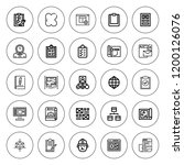 project icon set. collection of ... | Shutterstock .eps vector #1200126076