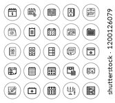 organizer icon set. collection... | Shutterstock .eps vector #1200126079