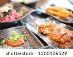 various and delicious korean... | Shutterstock . vector #1200126529