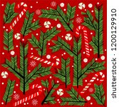 new year decor. botanical...   Shutterstock . vector #1200129910