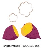 hot sweet potato illustration... | Shutterstock .eps vector #1200130156