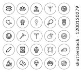 chicken icon set. collection of ... | Shutterstock .eps vector #1200130279