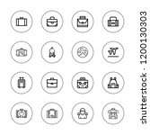 baggage icon set. collection of ... | Shutterstock .eps vector #1200130303