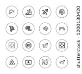 move icon set. collection of 16 ... | Shutterstock .eps vector #1200130420
