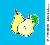 vector illustration of pear.... | Shutterstock .eps vector #1200132130