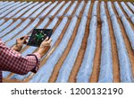 farmer control tablet... | Shutterstock . vector #1200132190