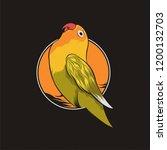 Lovebird Vector Illustration