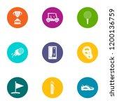 threat reward icons set. flat... | Shutterstock .eps vector #1200136759