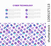 cyber technology concept with... | Shutterstock .eps vector #1200137113