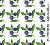 seamless pattern with... | Shutterstock .eps vector #1200138679