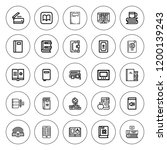 reader icon set. collection of... | Shutterstock .eps vector #1200139243