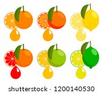 citrus juice  the taste of... | Shutterstock .eps vector #1200140530
