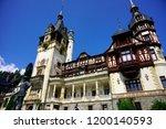 peles castle  sinaia  romania  ... | Shutterstock . vector #1200140593