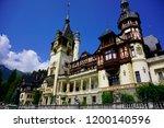 peles castle  sinaia  romania  ... | Shutterstock . vector #1200140596
