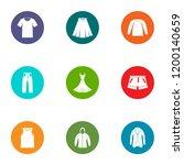 tissue icons set. flat set of 9 ... | Shutterstock .eps vector #1200140659