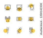 set of 9 icons  for web ... | Shutterstock .eps vector #1200142330