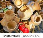 souvenir market at bran castle ... | Shutterstock . vector #1200143473