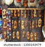 souvenir market at bran castle ... | Shutterstock . vector #1200143479