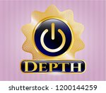 gold emblem or badge with... | Shutterstock .eps vector #1200144259