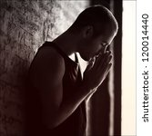stressed man. emotion portrait | Shutterstock . vector #120014440