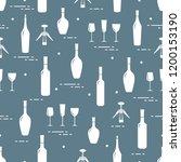 seamless pattern of wine...   Shutterstock .eps vector #1200153190