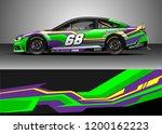 car decal wrap design vector.... | Shutterstock .eps vector #1200162223