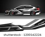 car decal wrap design vector.... | Shutterstock .eps vector #1200162226