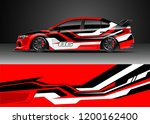 car decal wrap design vector.... | Shutterstock .eps vector #1200162400
