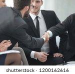 business handshake at meeting...   Shutterstock . vector #1200162616