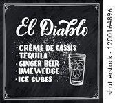 lettering name of cocktail...   Shutterstock .eps vector #1200164896