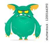 angry cartoon monster.... | Shutterstock .eps vector #1200166393