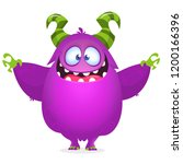 cool vector halloween monster... | Shutterstock .eps vector #1200166396