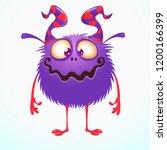 cute cartoon monster. vector... | Shutterstock .eps vector #1200166399