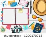 scrapbooking album   notebook... | Shutterstock .eps vector #1200170713