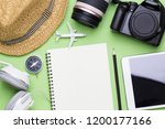 top view of traveler... | Shutterstock . vector #1200177166