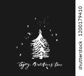 hand drawn christmas and new...   Shutterstock .eps vector #1200179410