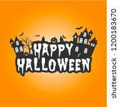halloween sale banner. vector... | Shutterstock .eps vector #1200183670
