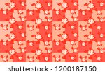 orange  seamless  pattern with ... | Shutterstock . vector #1200187150