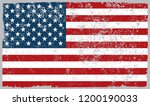 grunge flag of usa.old dirty... | Shutterstock .eps vector #1200190033