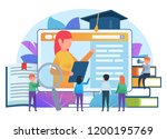 online education  distance...   Shutterstock .eps vector #1200195769