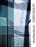 modern glass architecture.... | Shutterstock . vector #1200196219