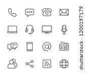 communication vector line icon... | Shutterstock .eps vector #1200197179