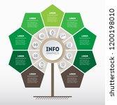 green infographics. tree of... | Shutterstock .eps vector #1200198010