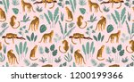vestor seamless pattern with... | Shutterstock .eps vector #1200199366