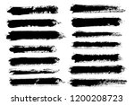 brush strokes. vector... | Shutterstock .eps vector #1200208723