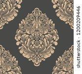 vector damask seamless pattern... | Shutterstock .eps vector #1200209446