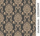 vector damask seamless pattern... | Shutterstock .eps vector #1200209449