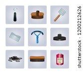 horse grooming kit items...   Shutterstock .eps vector #1200212626