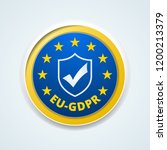 eu gdpr confirm button... | Shutterstock .eps vector #1200213379