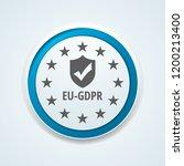 eu gdpr confirm button... | Shutterstock .eps vector #1200213400